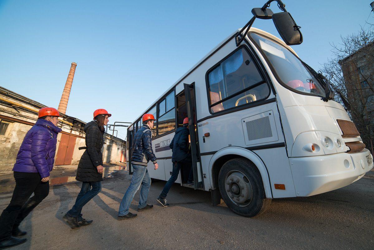 перевозка сотрудников служебным транспортом